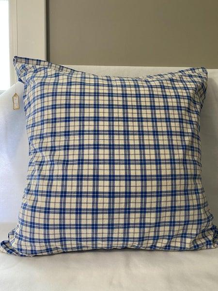 Blue vintage German pillow sham