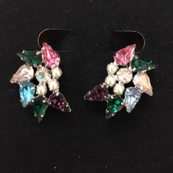 B. David Rhinestone earrings