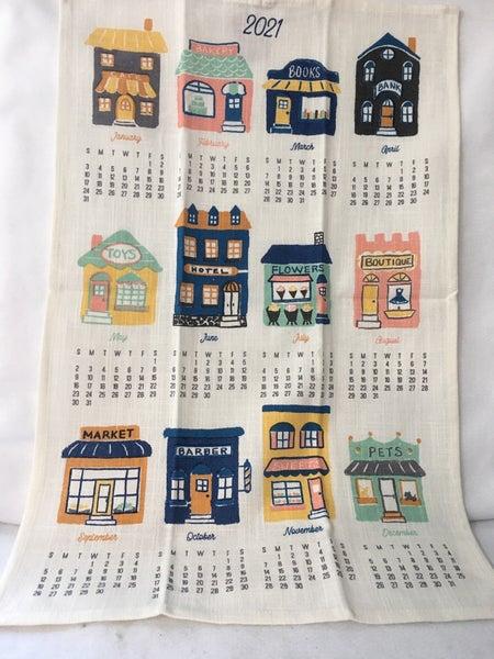 2021 Calendar towel, buildings