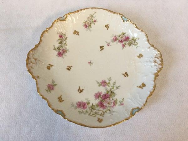 Limoge floral serving plate