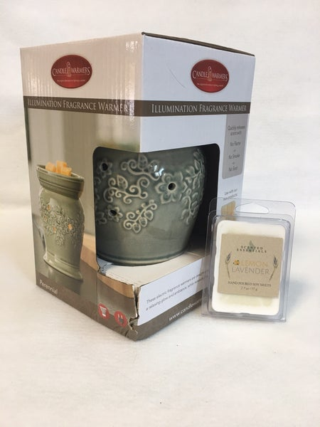 Fragrance warmer with melts