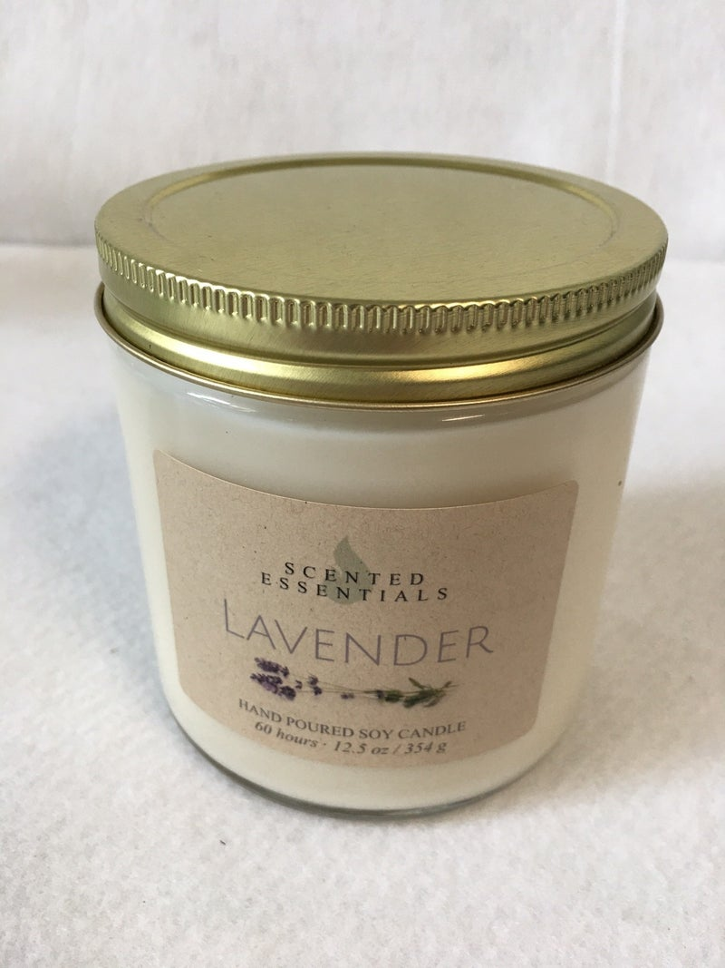 Lavender candle from Scented Essentials