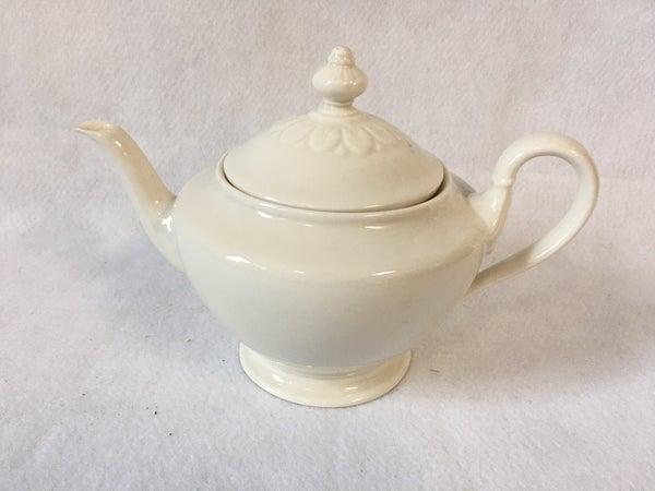 Cream color teapot