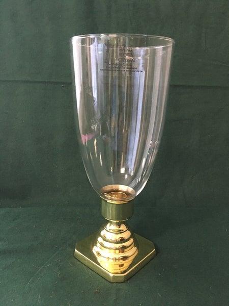 Baldwin glass hurricane lamp