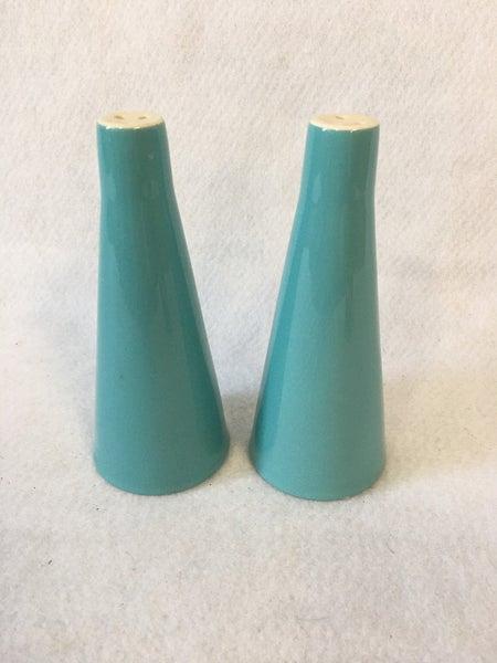 MCM teal salt & pepper shakers