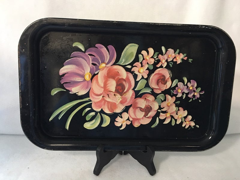 Small metal serving tray