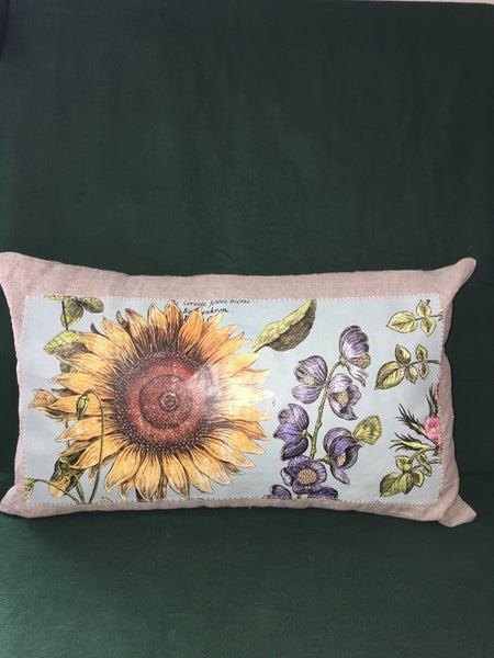 Handmade linen pillow