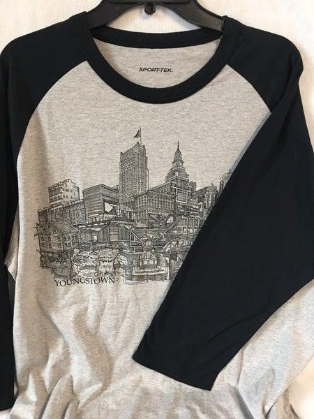 Youngstown raglan sleeve t-shirt, men's large