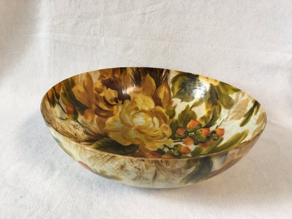 Vintage fiberglass serving bowl