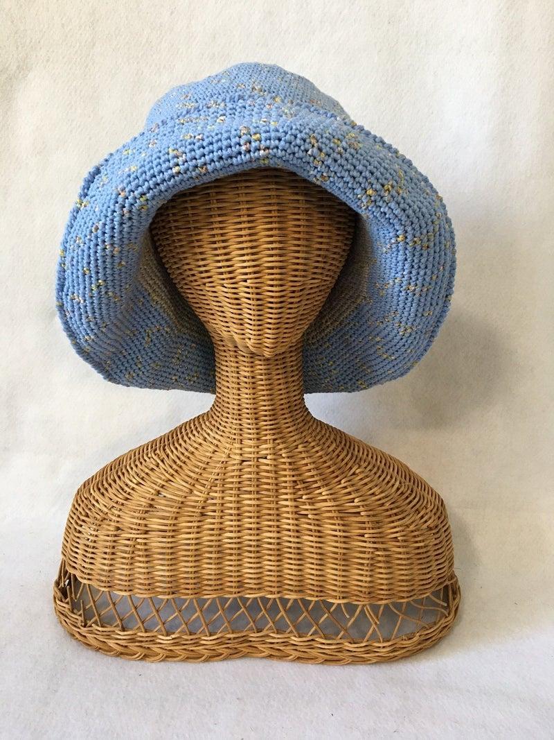 Crocheted bucket hat by Powder Puff Crochet