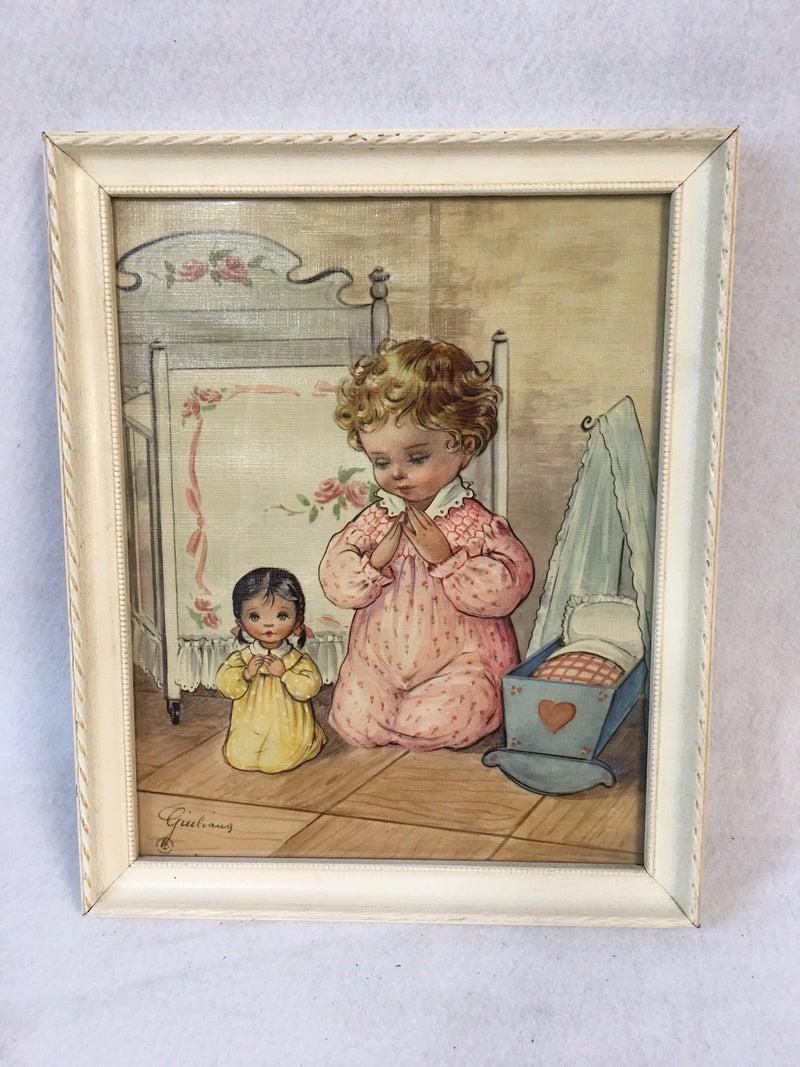 Bed time prayers vintage print