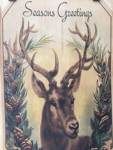 """Monahan paper, """"Seasons Greetings"""" w/buck"""