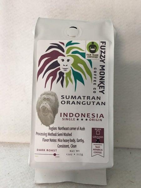Fuzzy Monkey Sumatran Orangutan coffee