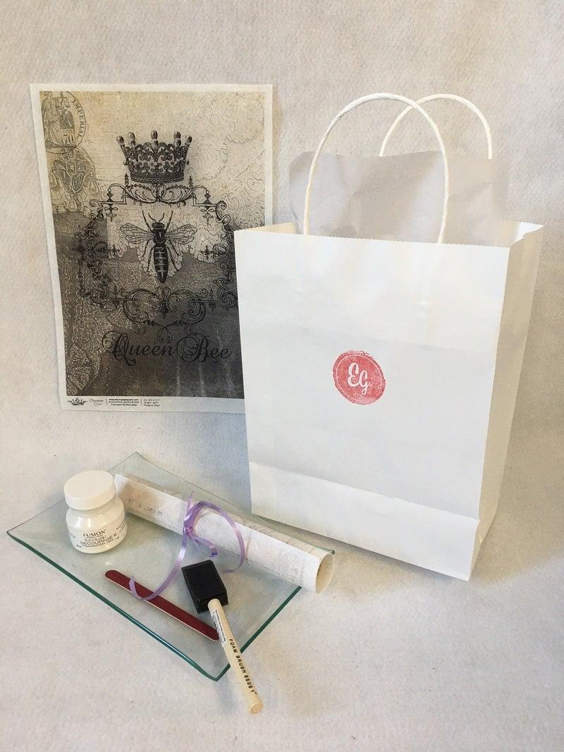 DIY glass tray kit, Bee Heirlooms