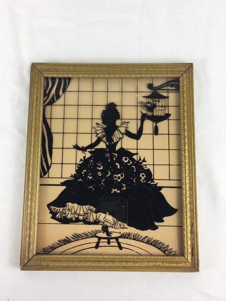 Sillouette woman w/bird