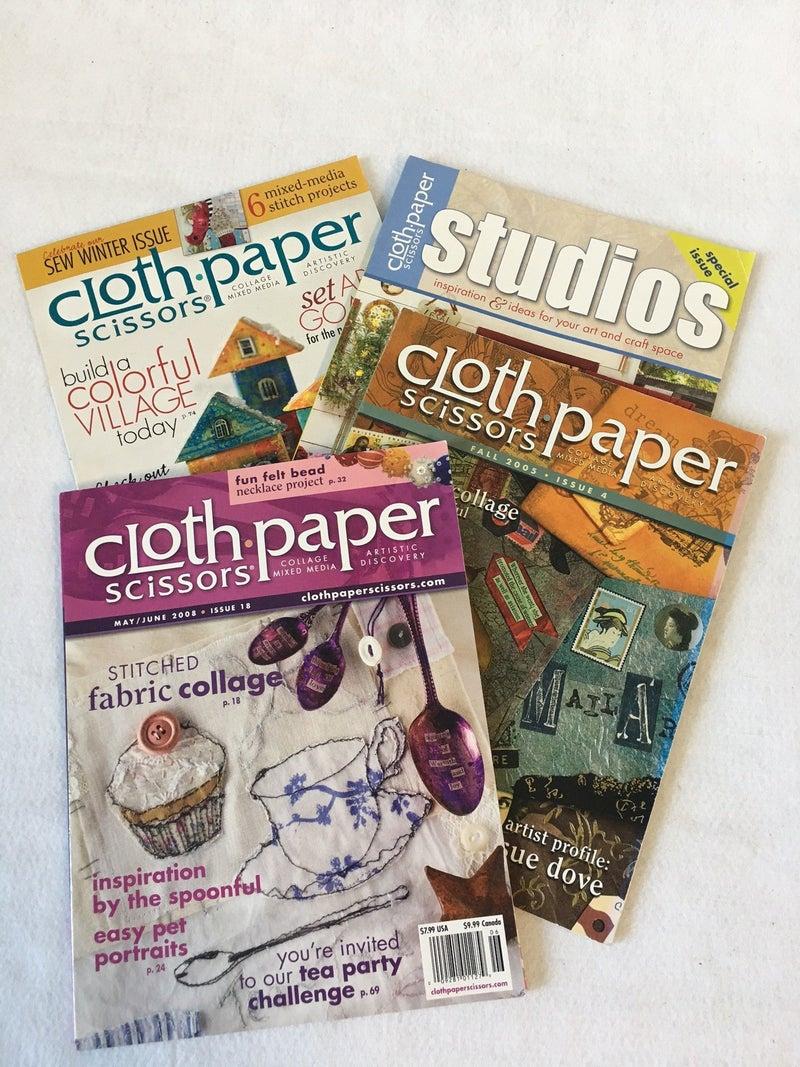 "4 back issues ""Cloth, Paper, Scissors"""