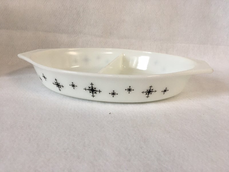 Pyrex divided dish, Atomic compass pattern