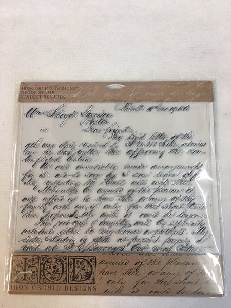 "Iron Orchid Designs ""Kindest Regards"" stamp"