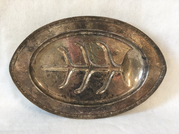 Silverplated meat serving tray