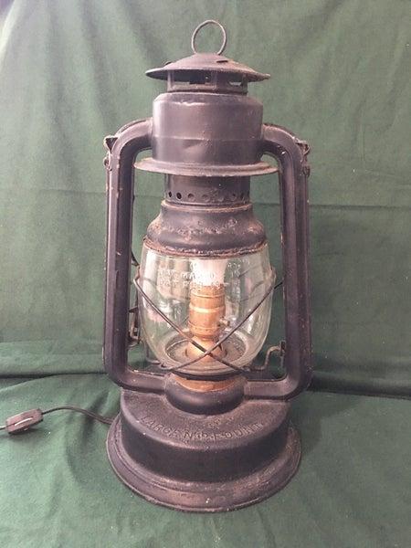 Electrified kerosene lamp