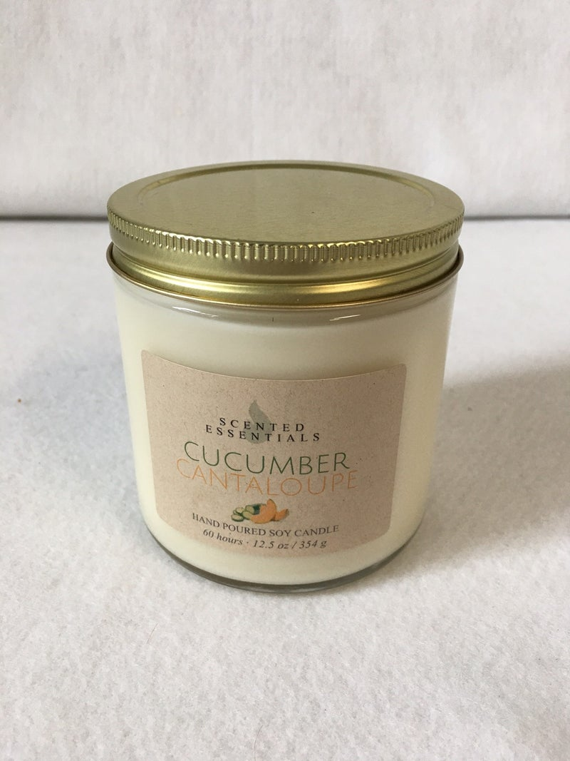 Cucumber Cantaloupe soy candle