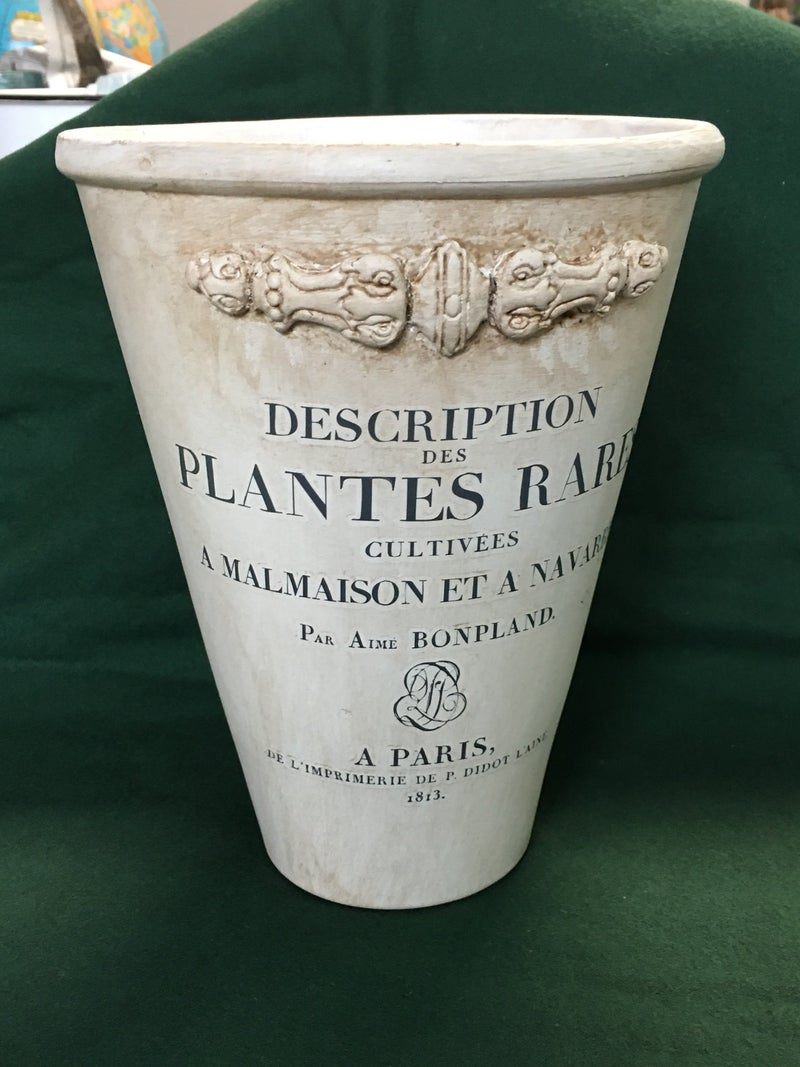 """Rose pot, 9"""" with transfer"""