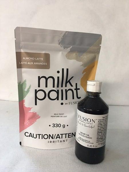 Fusion Milk paint & hemp oil combo