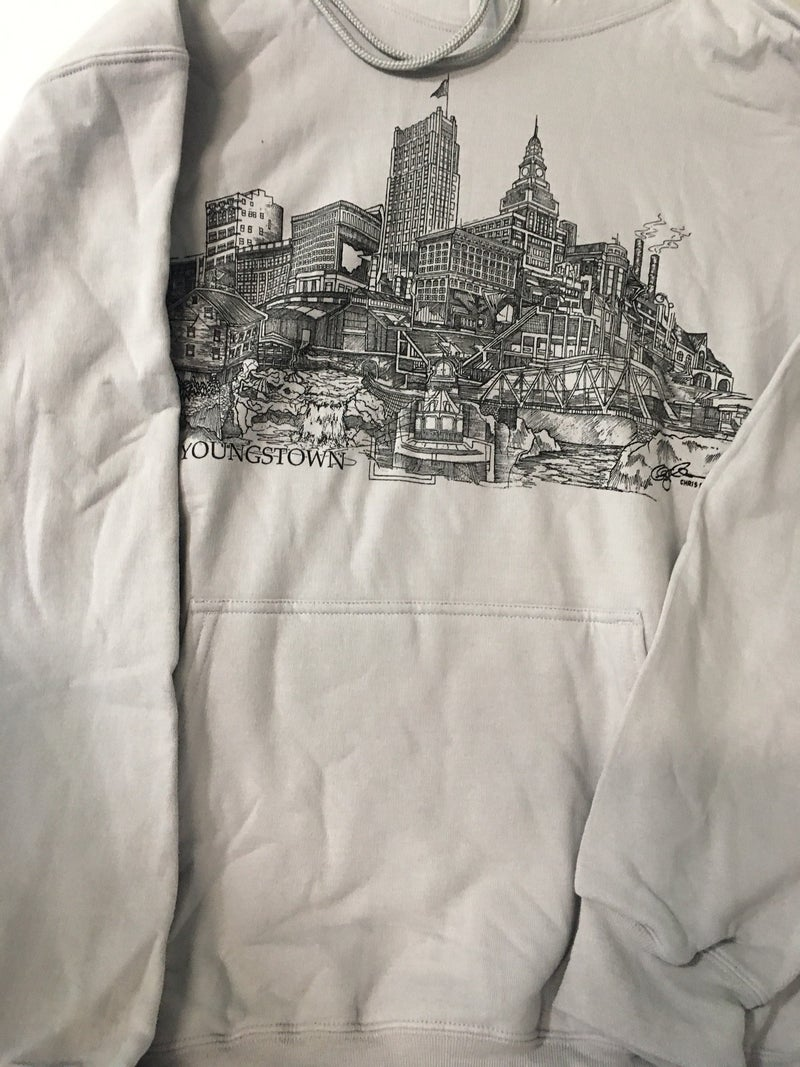 Mens large sweatshirt w/Youngstown drawing