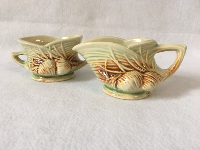 McCoy pine cone creamer and sugar bowl set