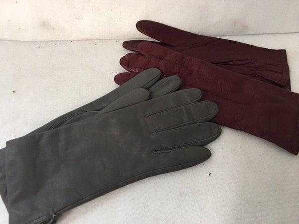 Vintage leather gloves, 2 pair