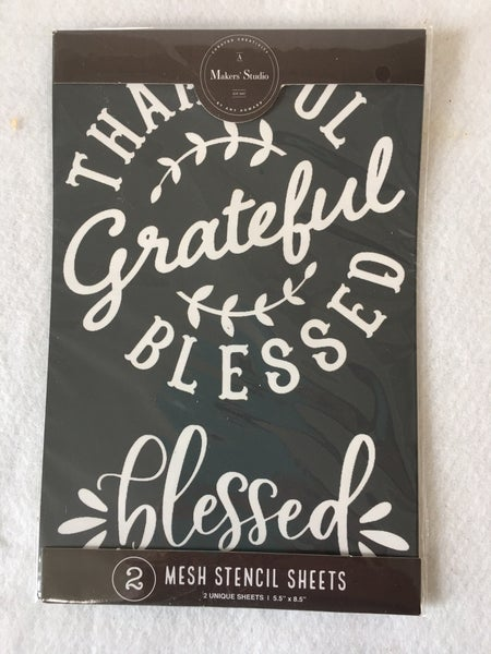 """""""Blessed"""" mesh stencil from A Maker's Studio"""