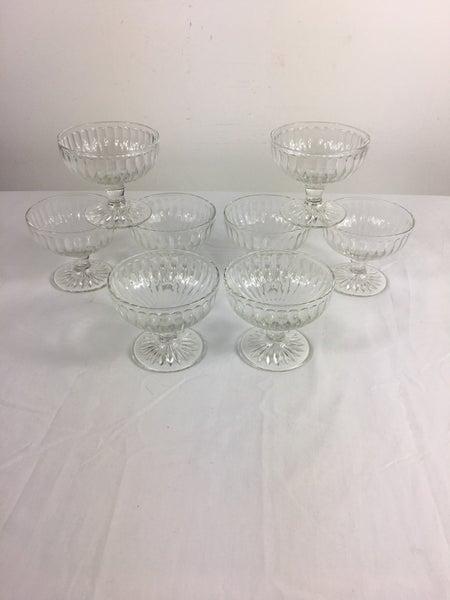 Set of 8 ice cream pedestal dishes