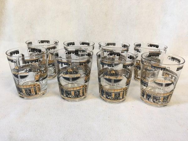 Set of 8 rocks glasses from Lyden Oil Co.