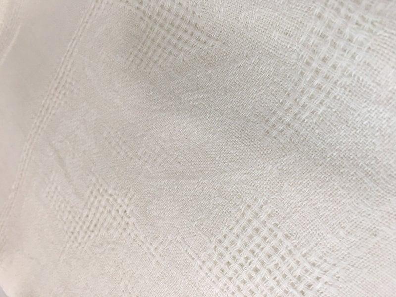 Vintage loose weave tablecloth