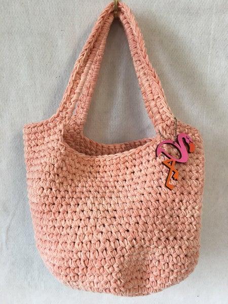 """Drop in the Bucket"" hand crocheted bag"