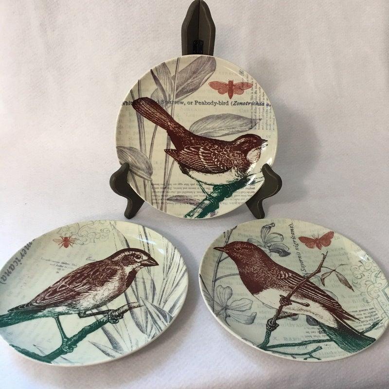 Trio of bird plates