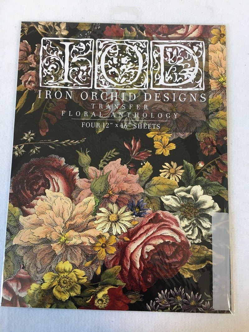 "Iron Orchid Design ""Floral Anthology"" transfer"