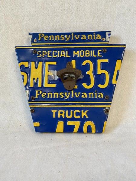 PA license plate bottle opener