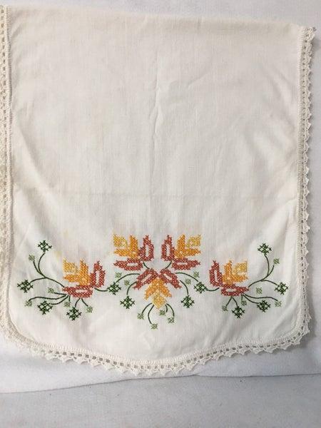 Vintage embroidered runner