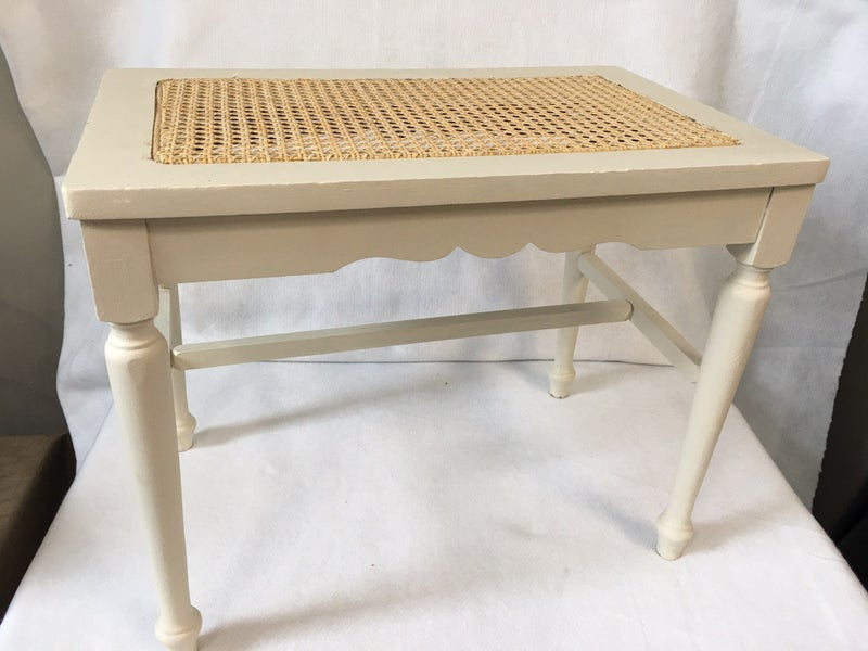 Bench with cane seat