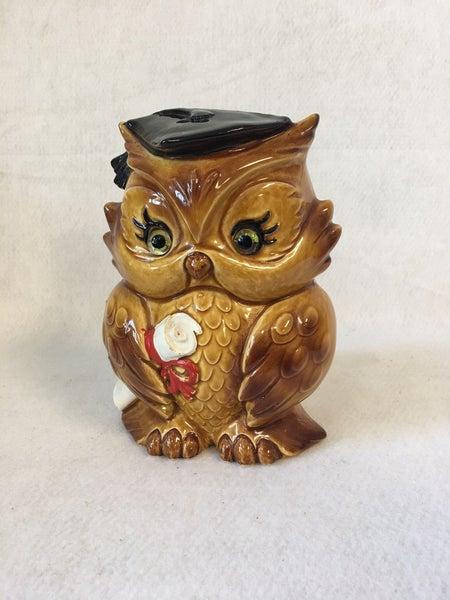 Vintage Lefton owl planter