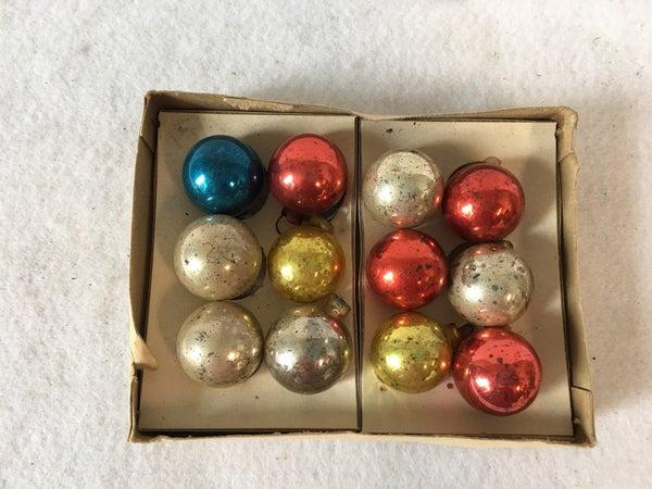 12 tiny ornaments in original box