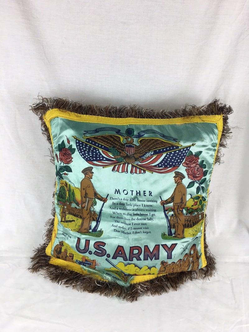 US Army satin Mother pillow