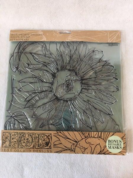 "Iron Orchid Designs ""Sunflower"" stamp"