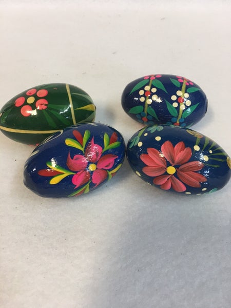 Set of 4 hand painted eggs