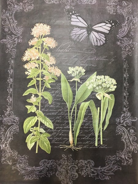 Decoupage Queen black w/butterfly large tissue paper