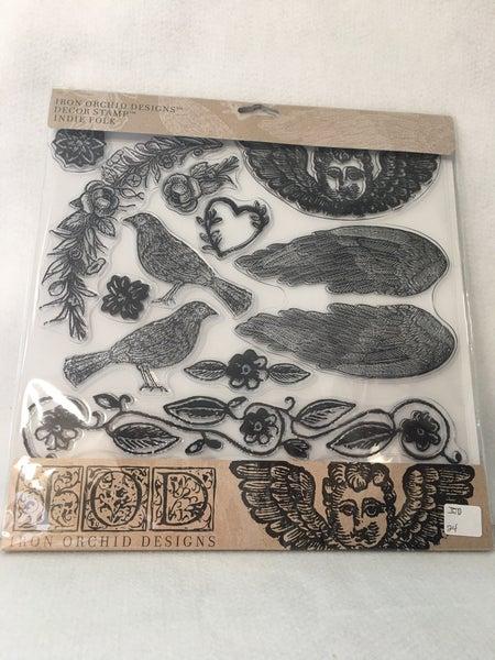"""Iron Orchid Design """"Indie Folk"""" stamp"""