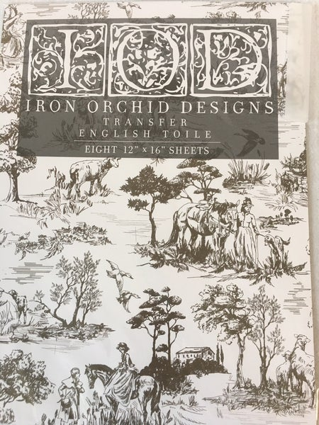 "Iron Orchid Design ""English Toile"" transfer"