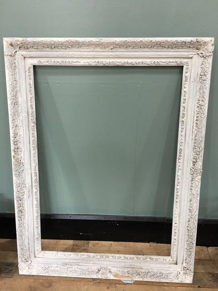 Large chippy white frame