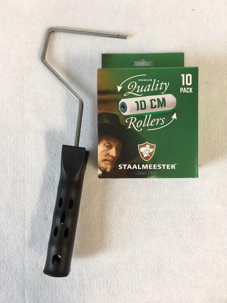 Staalmeester 10 pack 10 cm rollers & frame